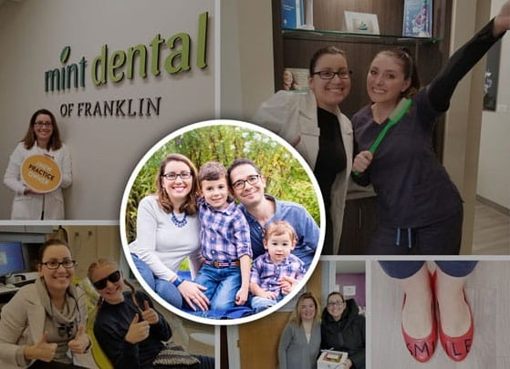 Collage of the MInt Dental smile team